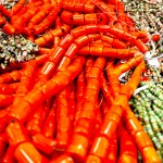 Orange Beads Wholesale Lot