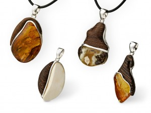 amber & ebony pendants at JOGS Tucson Gem & Jewelry Show 2013