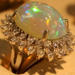 Brilliant Design - White Opal Ring