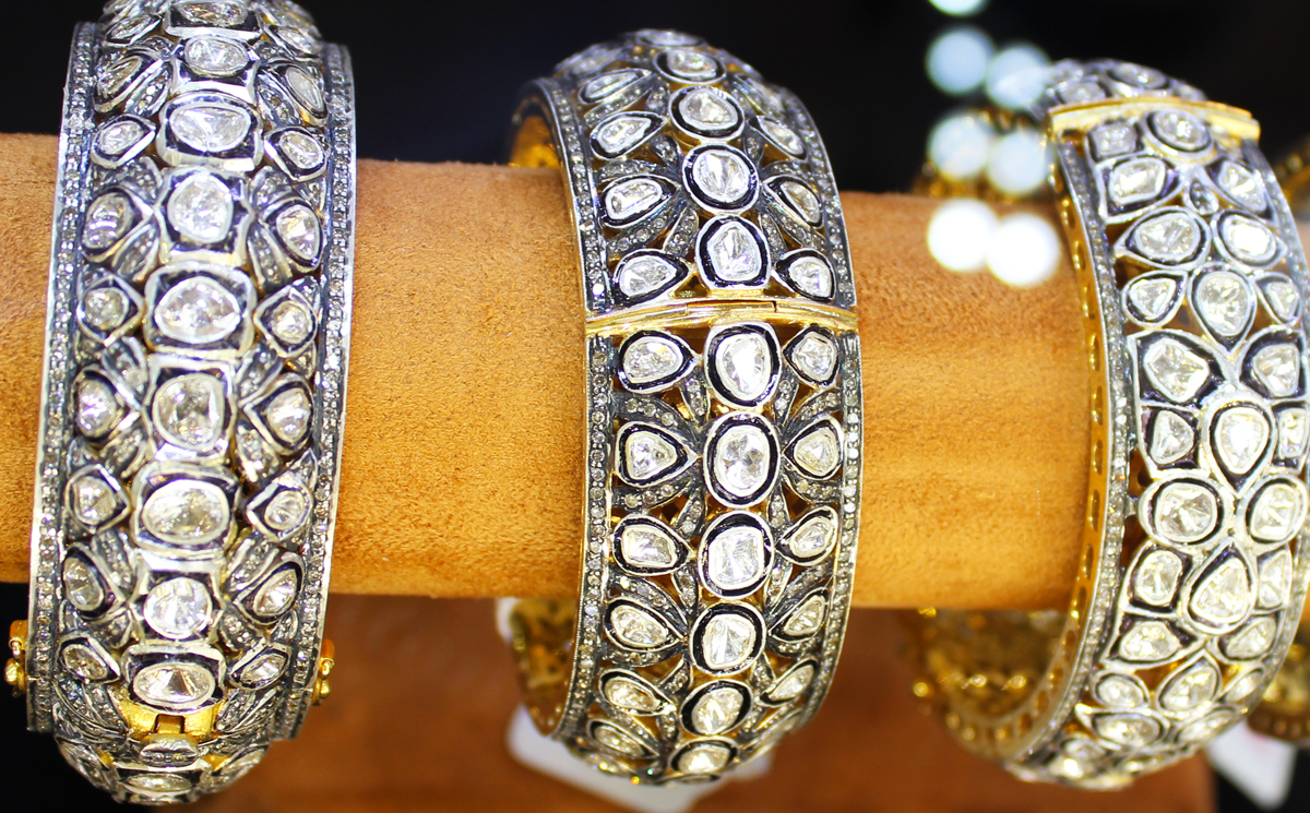 Neotric Gems - Victorian inspired bangles adorned with diamonds)