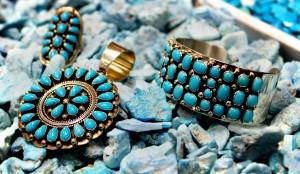 Sunwest Silver - Turquoise pendant and bracelet