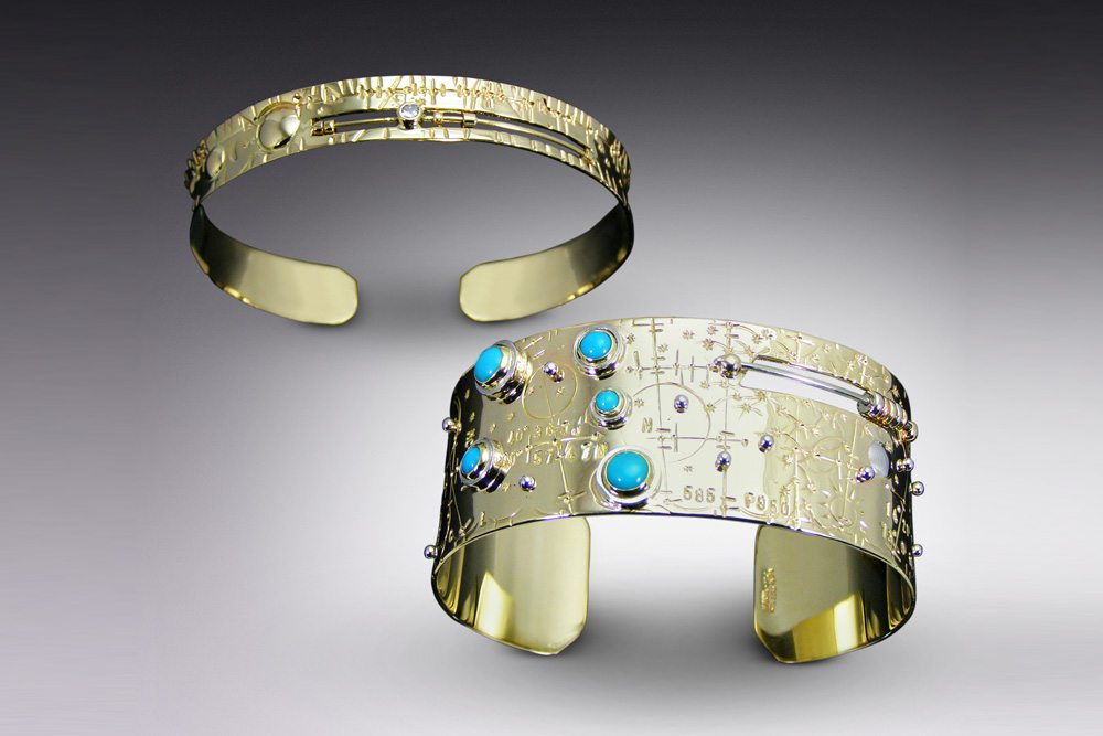 Jason McLeod Gold Time Traveler Cuffs