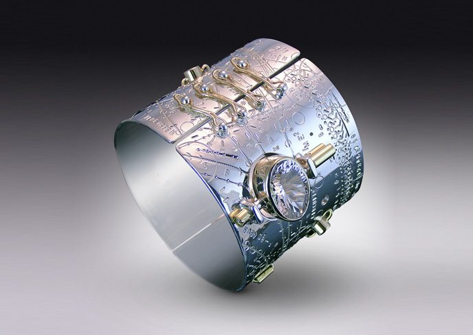 Time Traveler Hinged Circuit Cuff from Jason McLeod