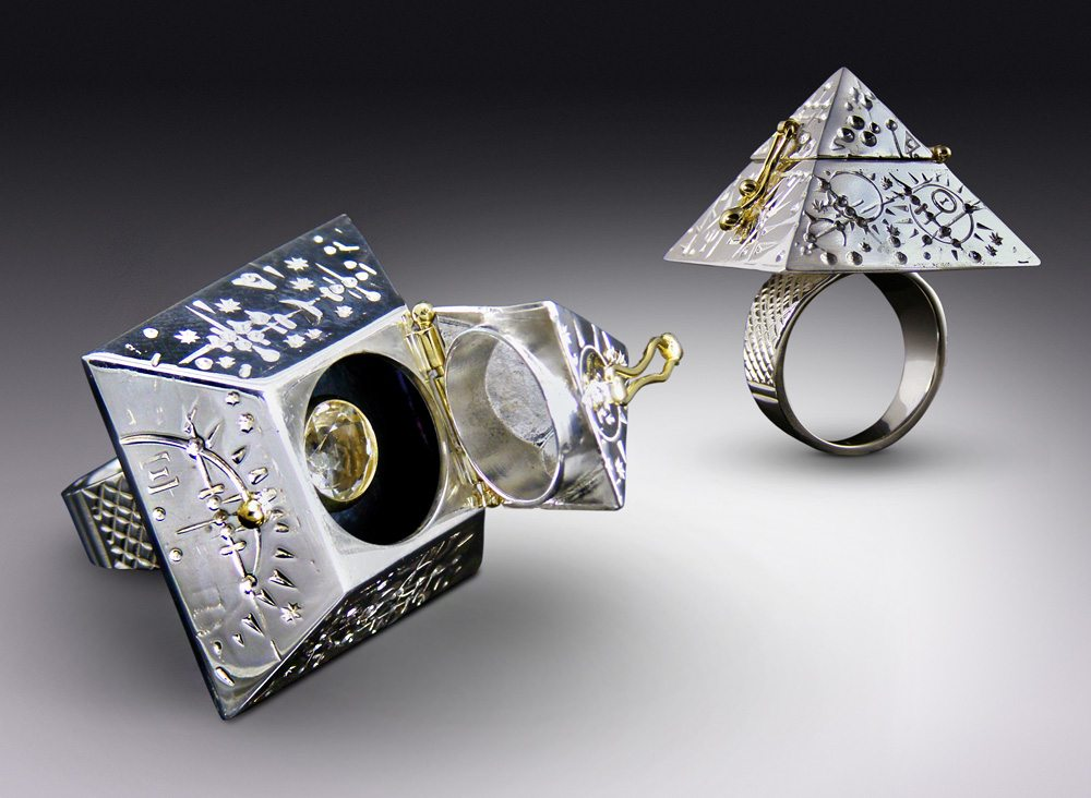 Time Traveler Pyramid Ring, scaled to the Great Pyramid of Giza