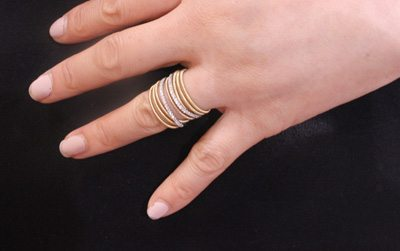 Micropave gold-plated rings from Jewwllenium