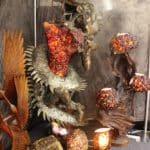 Amber Lamp Sculpture at the JOGS Tucson Gem & Jewelry Show