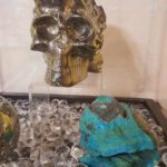 gemstone carved skull tucson gem show