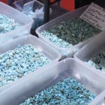 Rough Blue Turquoise at the JOGS Tucson Gem & Jewelry Show
