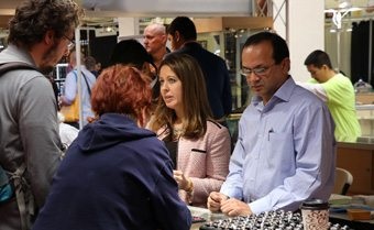 Wholesale buyers at the Tucson Gem Show
