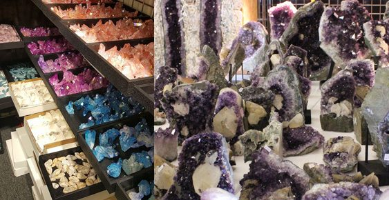 Crystals at the Tucson Gem Show