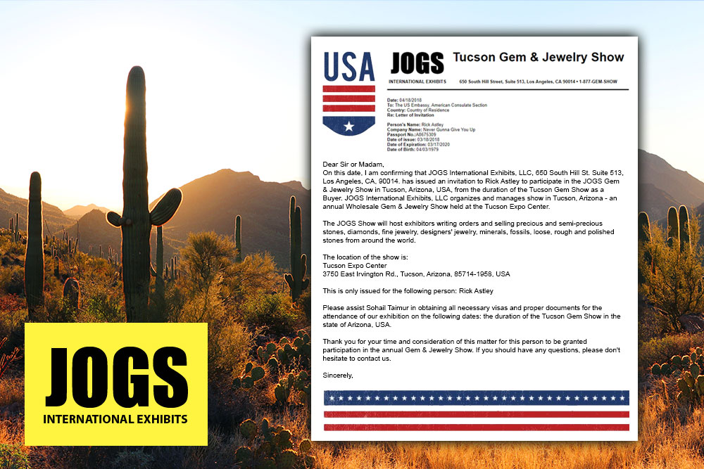 How to get a visa invitation letter to the tucson gem show stopboris Choice Image