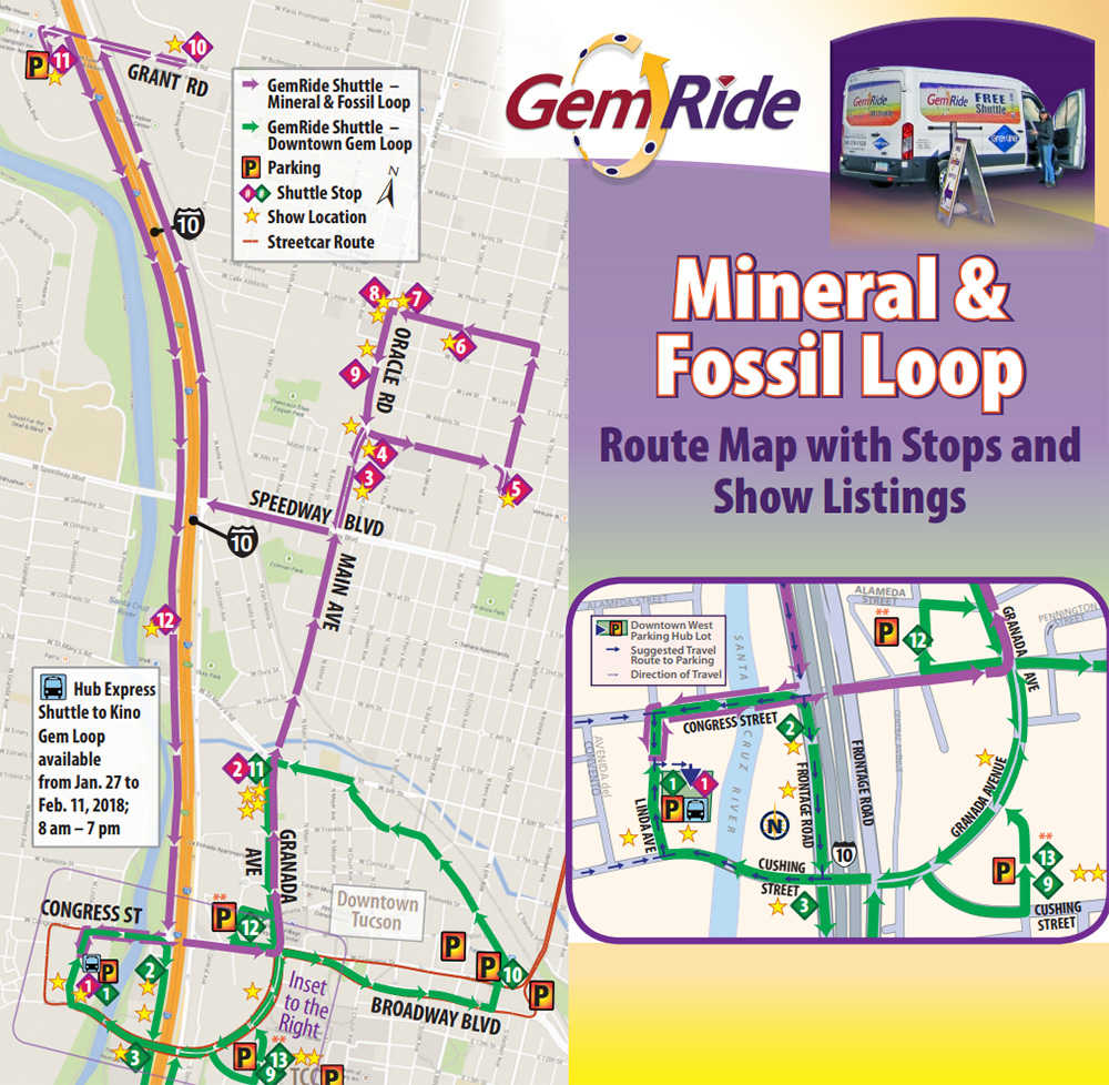 Show Me The Map Of Arizona.Tucson Gem Show Shuttles Routes Maps